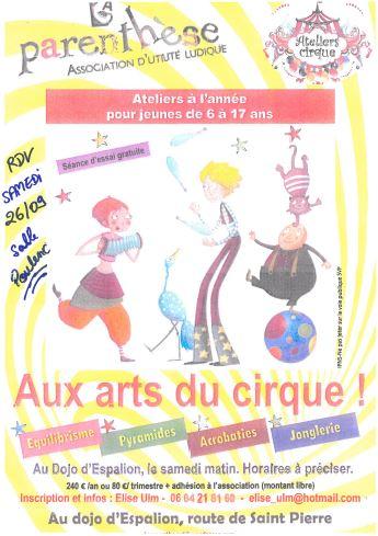 Aux arts du cirque