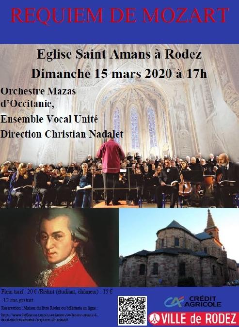Concert Requiem de Mozart - Association Orchestre Mazas d'Occitanie