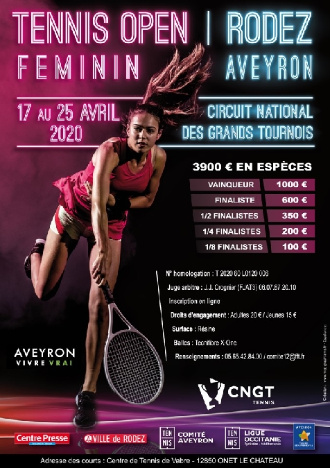 Tournoi de Tennis Féminin – Circuits Nationaux des Grands Tournois