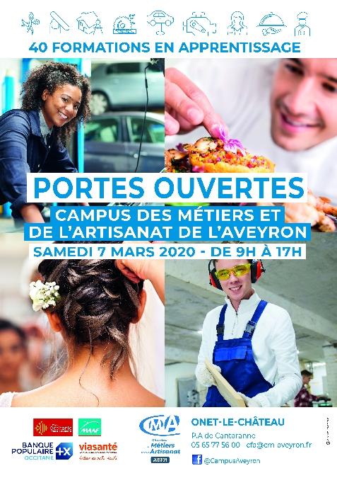 Journées portes ouvertes du Campus des Métiers et de l'Artisanat de l'Aveyron