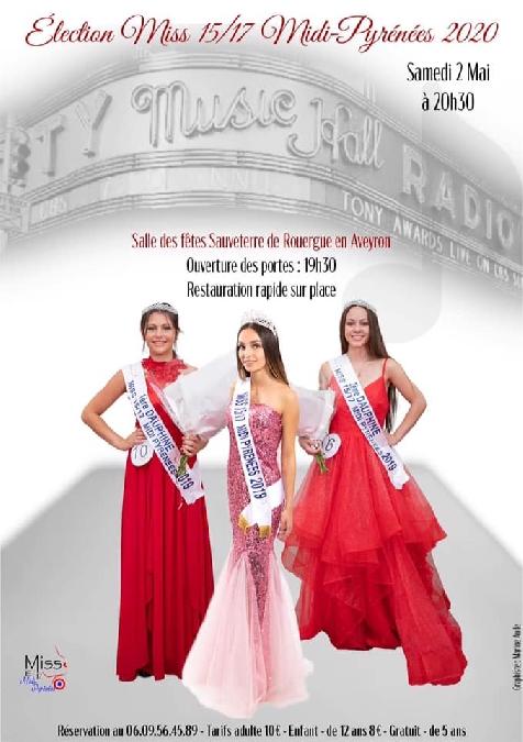Election Miss 15/17 Midi-Pyrénées 2020