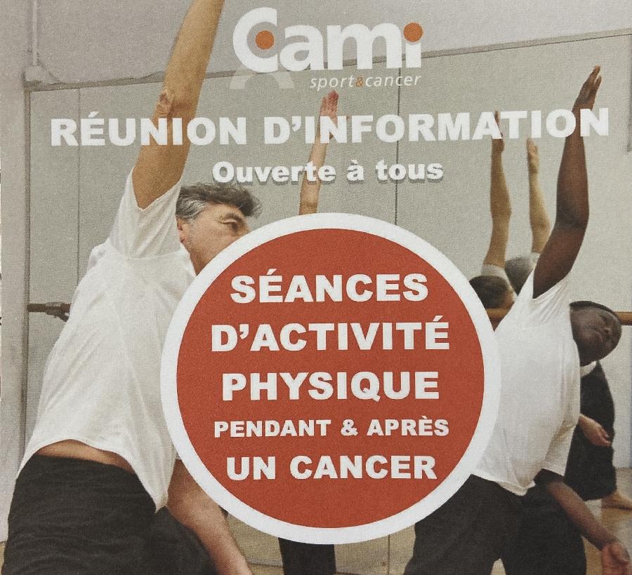 Réunion d'information Cami sport et cancer