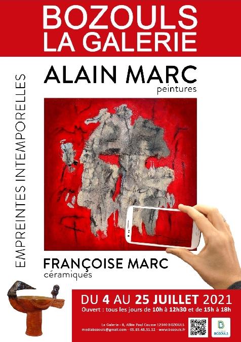 Exposition d'Alain et Françoise Marc : Empreintes intemporelles