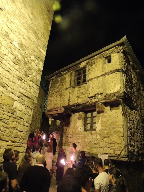 Visite guidée nocturne de la cité de Sévérac