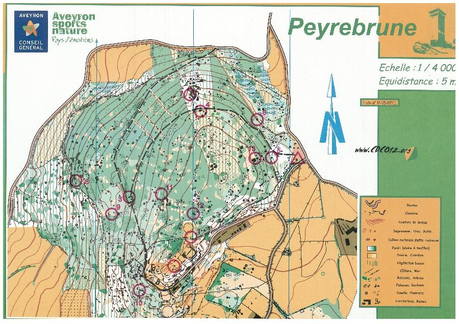 Parcours permanent d'orientation à la Tour de Peyrebrune