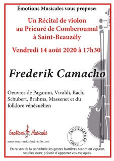 Frederik Camacho, récital de violon