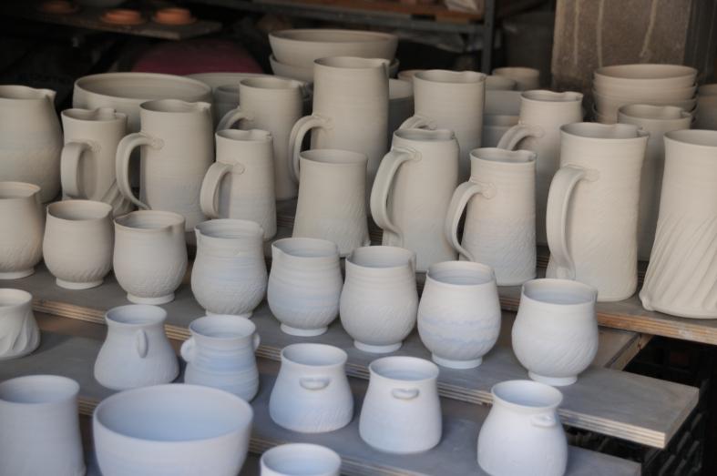 Démonstration de tournage de poterie