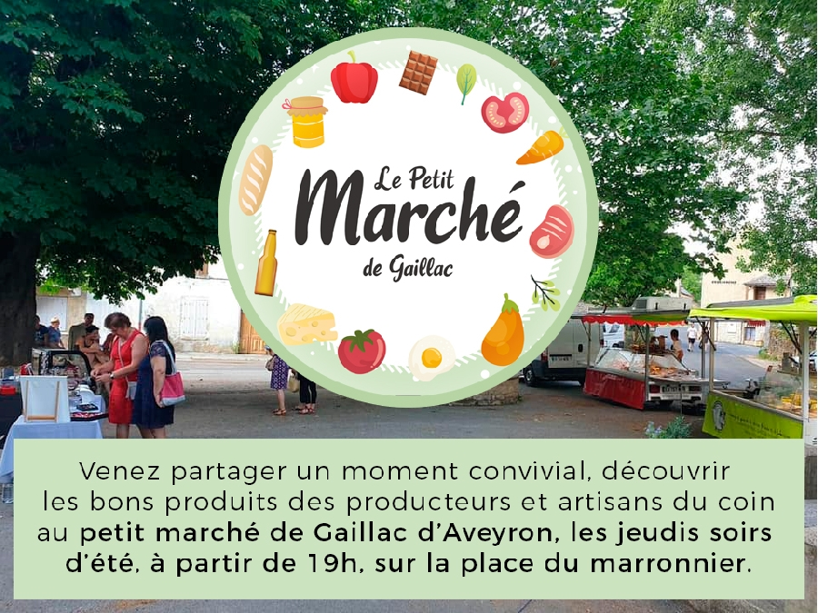 Petit marché en plein air à Gaillac d'Aveyron