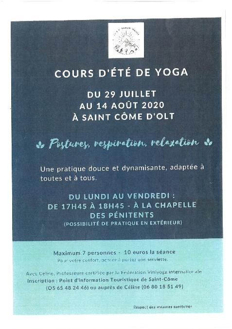 Cours d'été de Yoga