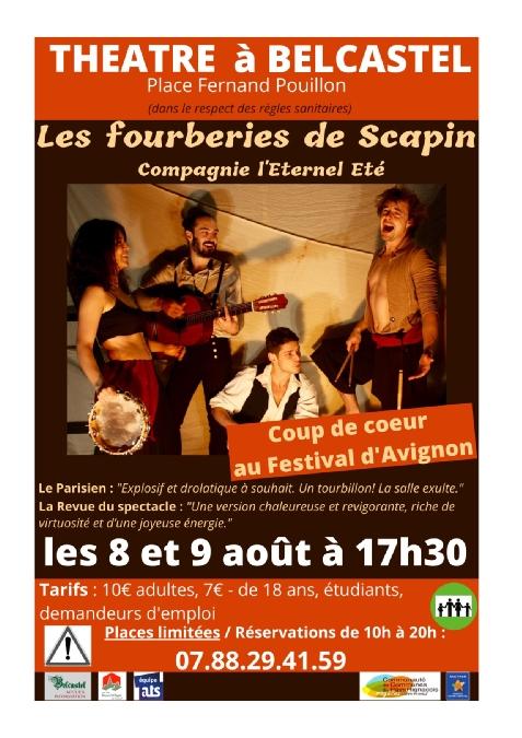 Théâtre à Belcastel: Les fourberies de Scapin