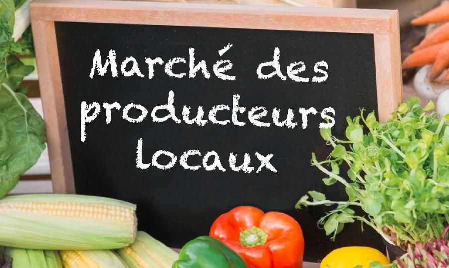Marché de producteurs locaux à Bruéjouls