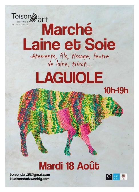 Marché laine et soie Laguiole le mardi 18 aout