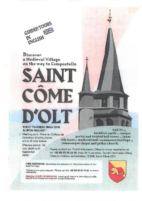 Visite commentée à St Côme en anglais