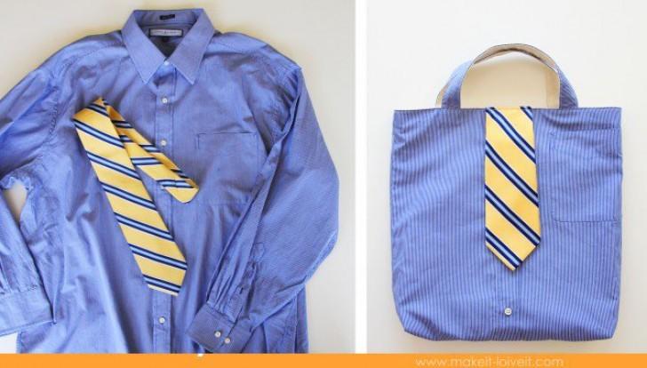 Atelier Couture en récup : création d'un sac à partir d'une chemise