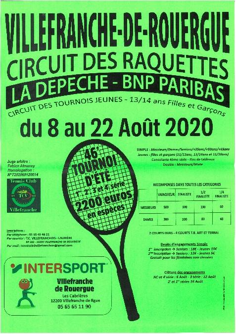 46ème tournoi d'été de tennis