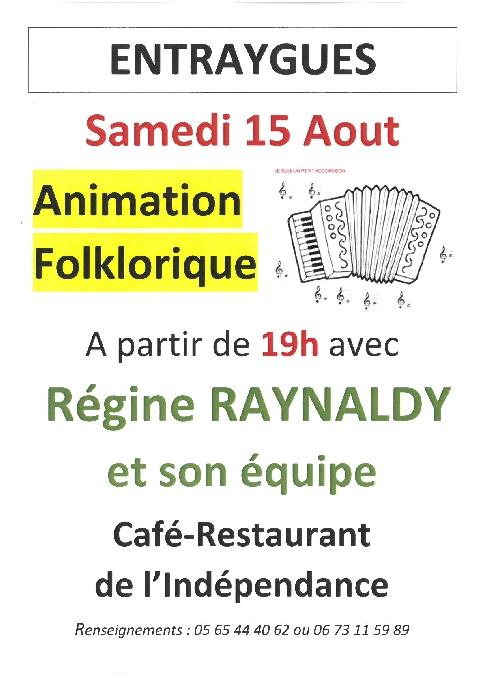 Animation folklorique au café de l'Indépendance
