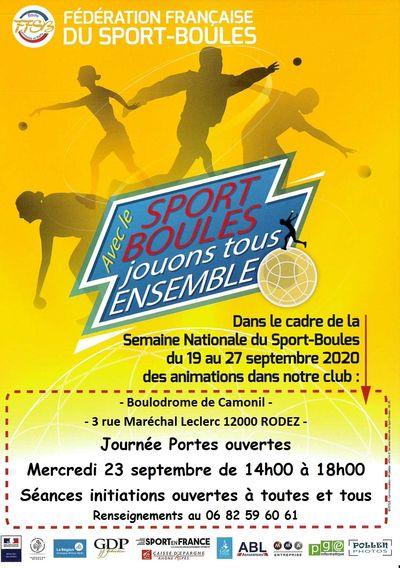 Sport Boule Santé : portes ouvertes