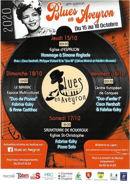 Festival Blues en Aveyron - hommage à Simone Anglade