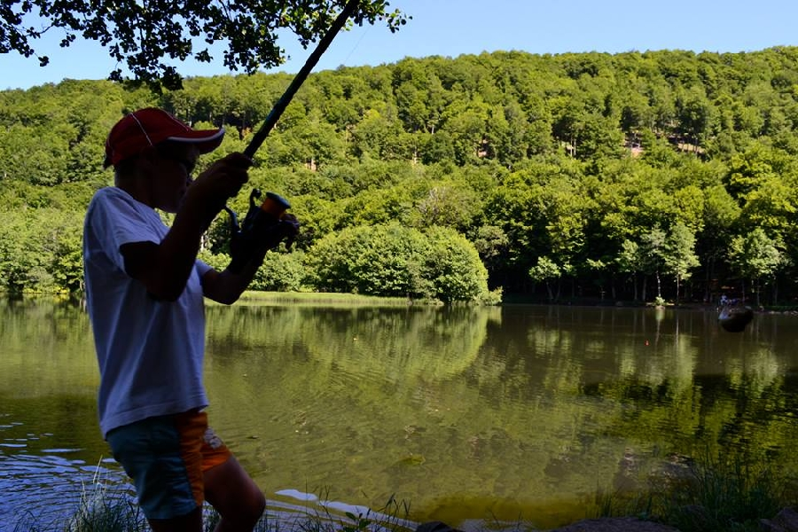 Pêche au lac des Picades à Brameloup