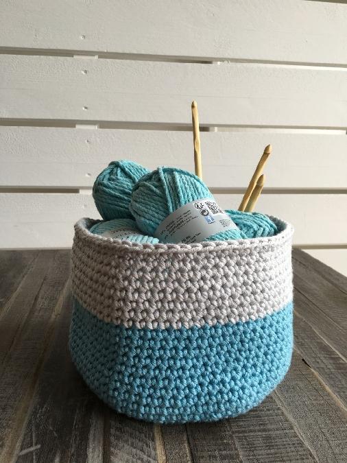 Atelier création d'un panier en crochet