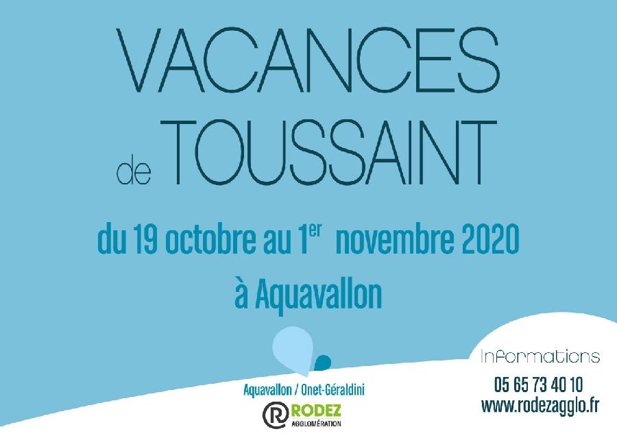 Vacances de Toussaint à Aquavallon