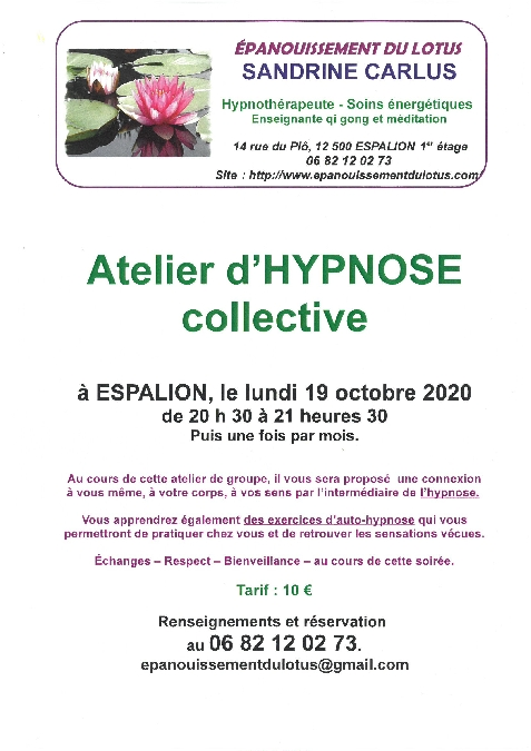 Atelier d'hypnose collective