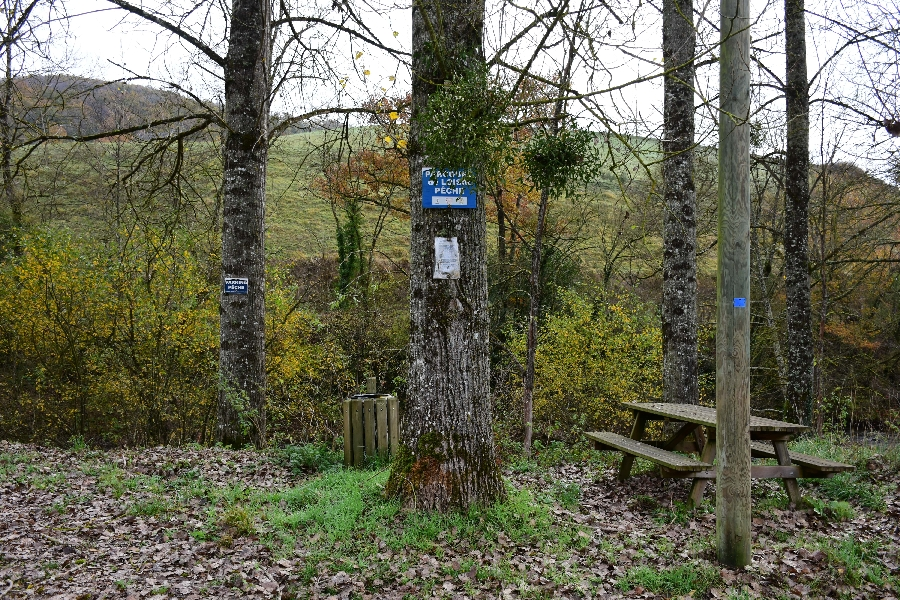 L'Aveyron à Ayssens (lâchers de truites)