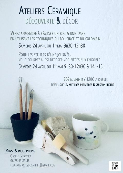 Ateliers de céramique avec Gabriel Vuattier