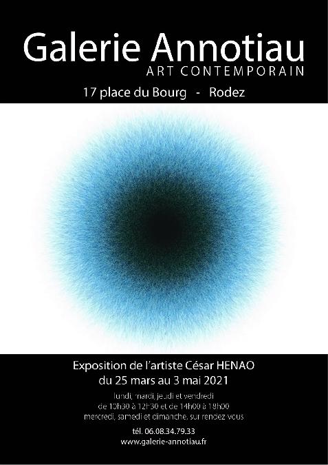 Exposition de César HENAO à la Galerie ANNOTIAU