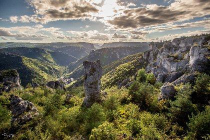 Poupées de roche dans les Gorges de la Dourbie, © Greg Alric