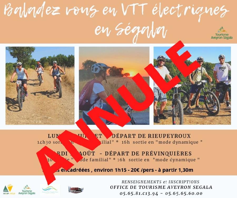 Sortie VTT électrique encadrée