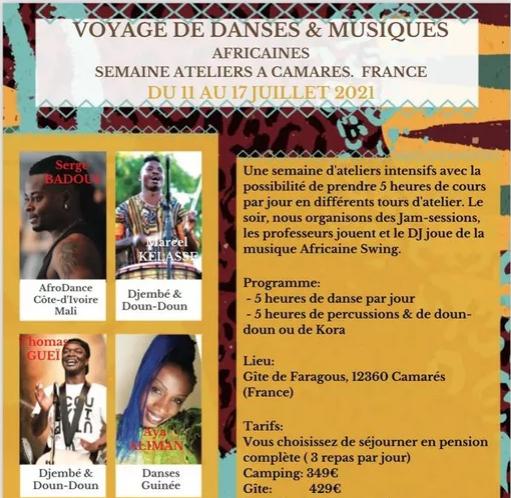 Stage danses et musiques africaines