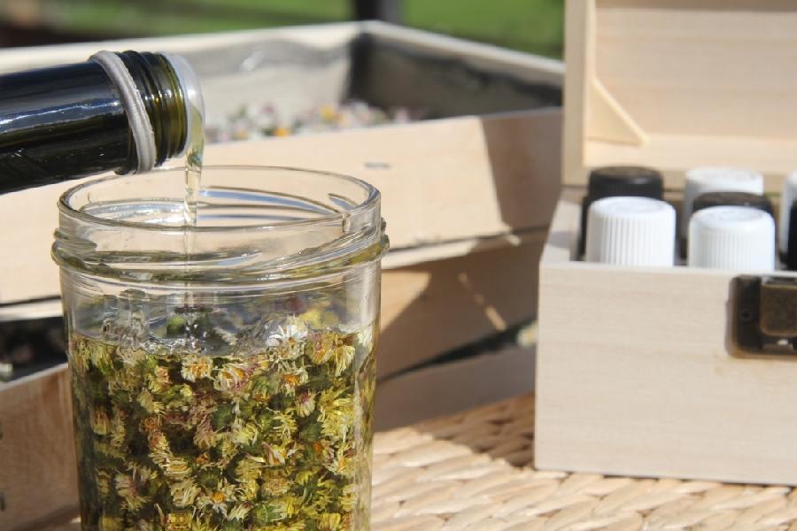 Fabrication de baumes cosmétiques avec des fleurs sauvages (SolStisse)