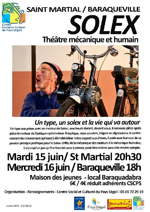 Spectacle Solex - théâtre mécanique et humain