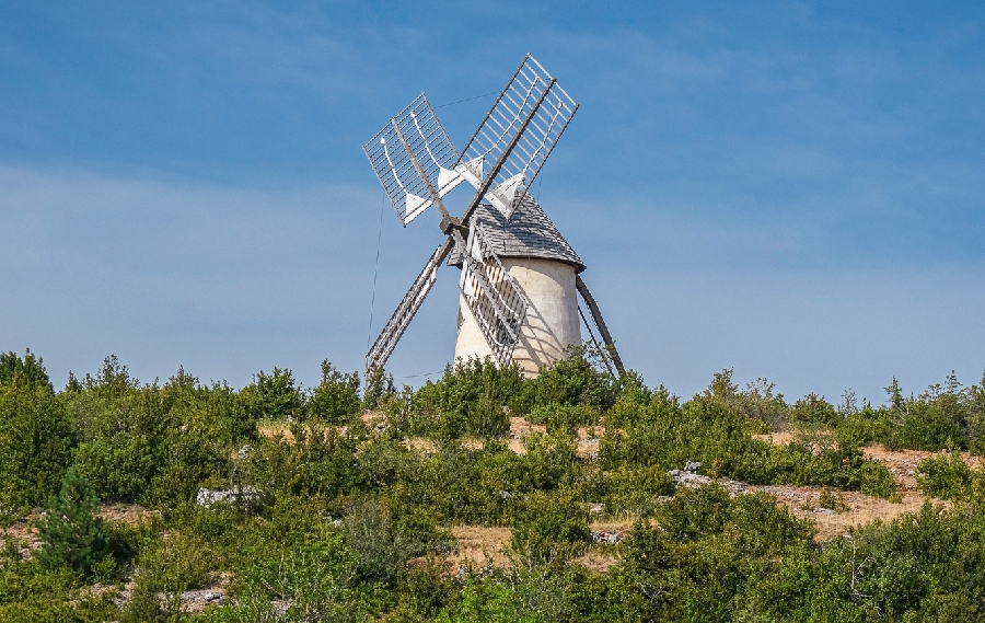 Visite du moulin du Rédounel