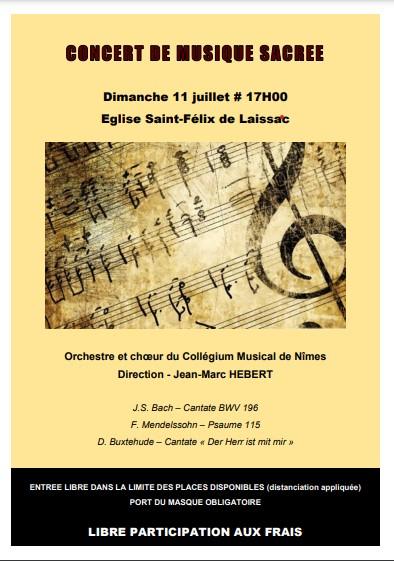 Concert de musique sacrée en l'Église de Laissac