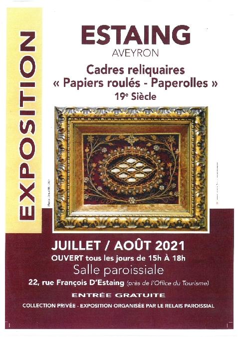 Exposition: Cadres reliquaires