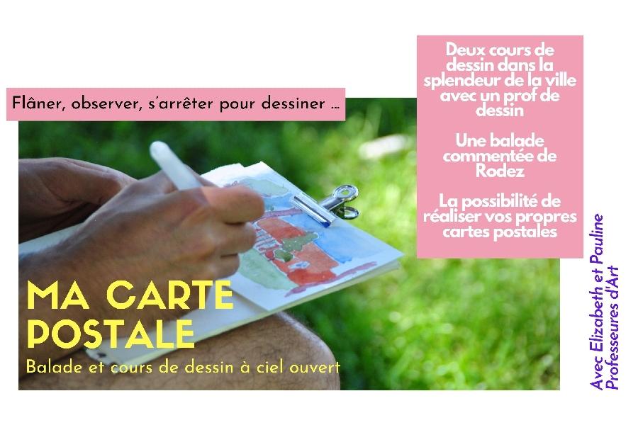 Ma carte postale - cours de dessin à ciel ouvert