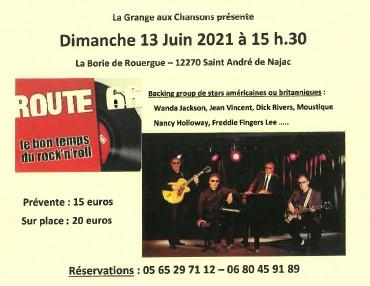 Concert d'un backing group de stars américaines et britanniques à la Grange aux chansons