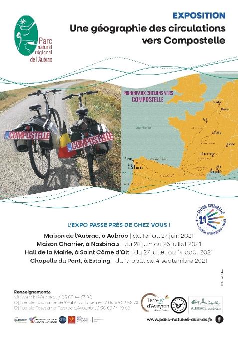 Exposition: une géographie des circulations vers Compostelle