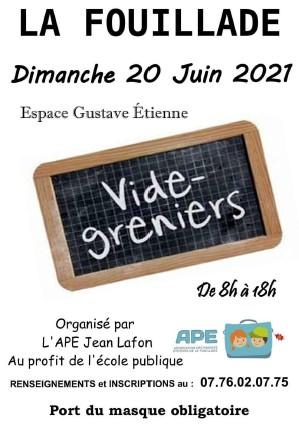 Vide grenier à La Fouillade