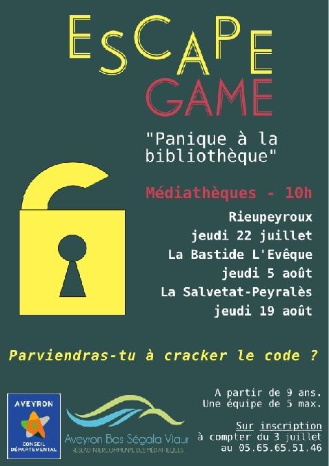 Escape Game, Panique à la bibliothèque. Parviendras-tu à craquer le code ?