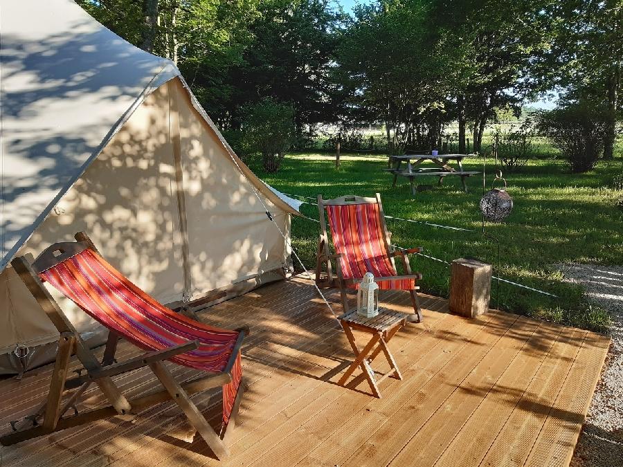 Tentes safari à l'Etang du Camp