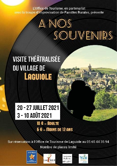 Visite théâtralisée et chantée de Laguiole - 3 Août 2021