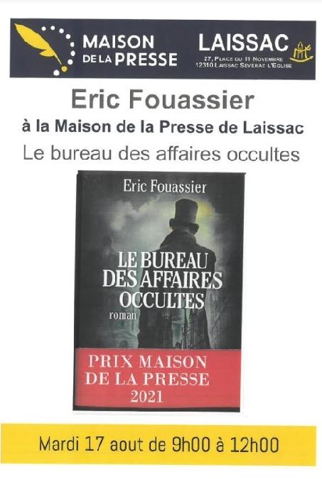 Dédicaces avec Eric Fouassier à la Maison de la Presse