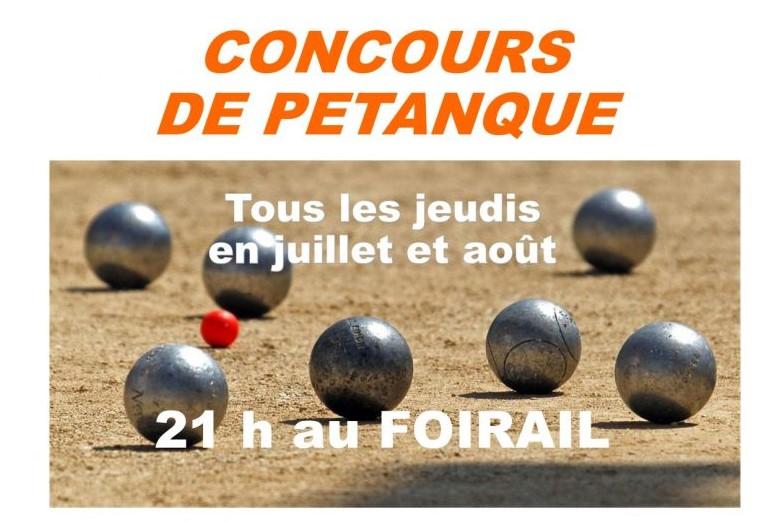Concours hebdomadaire de pétanque La Salvetat-Peyralès
