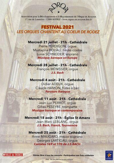 Festival les Orgues chantent au coeur de Rodez