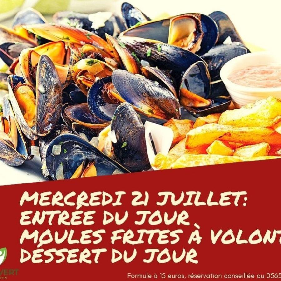 Repas estival : Moules/Frites