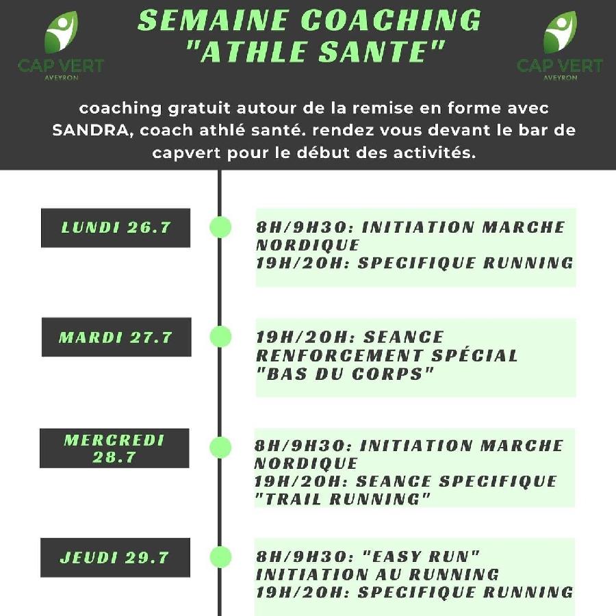 Semaine Coaching : Athlé Santé