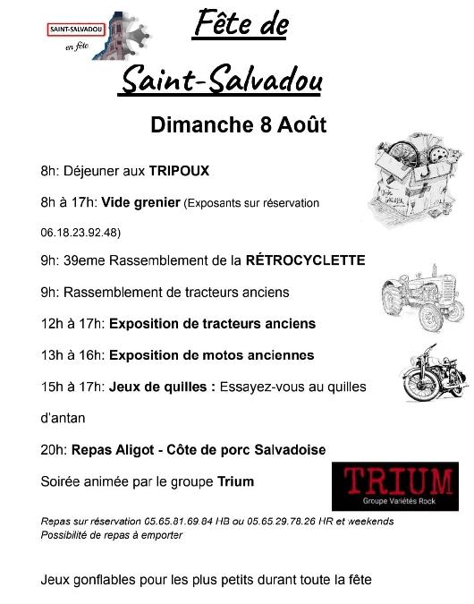 Fête du village de Saint-Salvadou